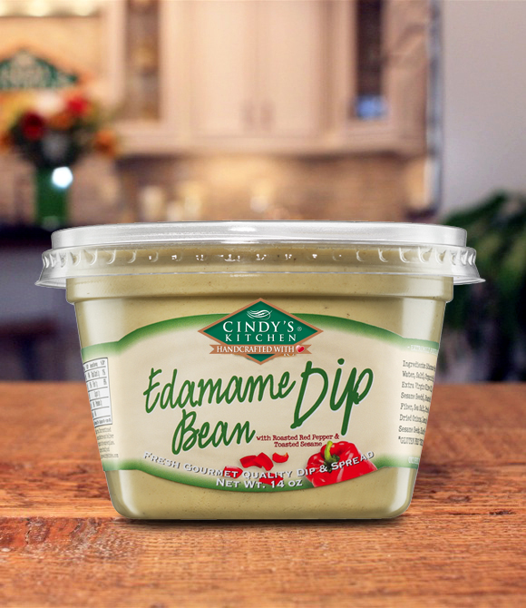 Edamame Bean Dip with Roasted Red Peppers & Toasted Sesame Logo